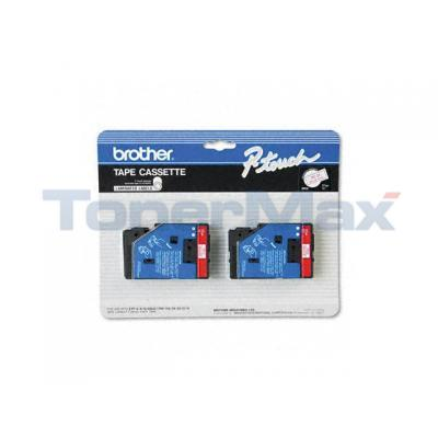 BROTHER P-TOUCH TAPE RED/WHITE (1/2 X 25)
